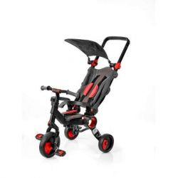 Трехколесный велосипед Galileo Strollcycle, Black-Red, возраст ребенка от 10м до 3х, регулируемая телескопическая ручка, нагрузка 25 кг, 6.5 кг (GB-1002-R)