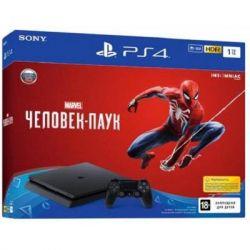 Игровая консоль SONY PlayStation 4 Slim 1Tb Black (Spider-Man) (9763215)