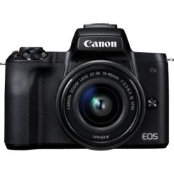 Цифровой фотоаппарат Canon EOS M50 15-45 IS STM + 55-200 IS STM kit black (2680C054)