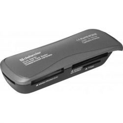 Считыватель флеш-карт Defender Ultra Rapido USB 2.0 black (83261)