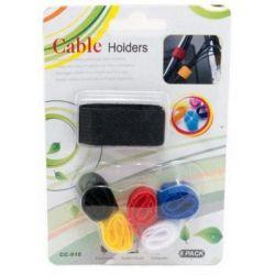 Держатель для кабеля EXTRADIGITAL Cable Holders CC-918 (Color Set) * 6 (KBC1728)