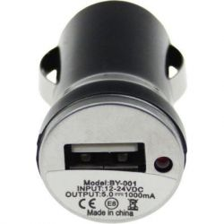 Зарядное устройство TOTO TZZ-54 Car charger 1USB 1A Black (F_52814) - Картинка 1