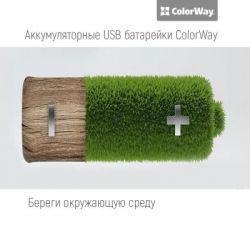 Аккумулятор AA-USB, 1200 mAh, ColorWay, 2 шт, 1.5V (CW-UBAA-02) - Картинка 3