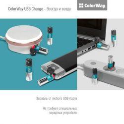 Аккумулятор AA-USB, 1200 mAh, ColorWay, 2 шт, 1.5V (CW-UBAA-02) - Картинка 5