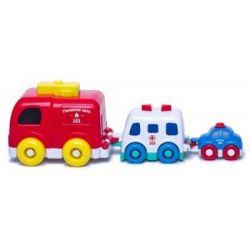Развивающая игрушка BeBeLino музыкальная пирамидка Машинки (58020-1)