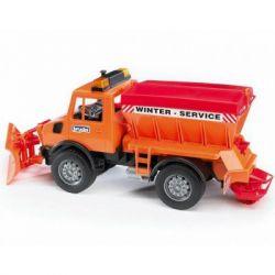 Спецтехника Bruder снегоуборочный автомобиль MB Unimog, М1:16 (02572)