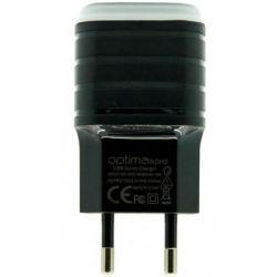 Зарядное устройство Optima 2xUSB Prizma (1A) Black (63401)