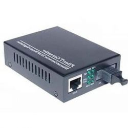 Медиаконвертер Merlion 10/100Base-TX to 100Base-F 1550нм, SM, SC/RJ-45, 25 км (1550_WDM)