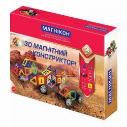 Конструктор Магнікон 66 деталей (МK-66)