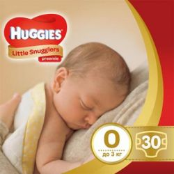 Подгузник Huggies Little Snugglers (до 3 кг) 30 шт (36000673302)