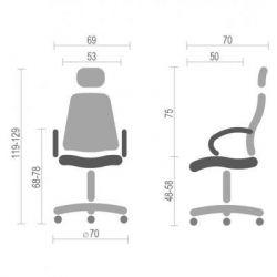 Офисное кресло Аклас Мердок PL RL Черное (11245) - Картинка 6