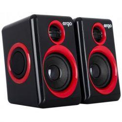 Комп.акустика ERGO S-165 USB 2.0 красный/черный