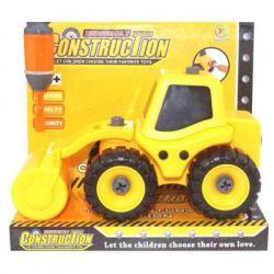 Машина Kaile Toys Трактор с катком, разборная модель с отверткой (KL702-4)