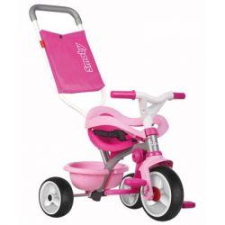 Детский велосипед Smoby Be Move с багажником и сумкой-конвертом, Розовый (740404)