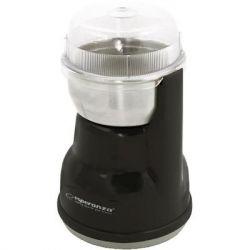 """Кофемолка Esperanza """"Lungo"""", Black, 160 Вт, 50 г, нож из нержавеющей стали с двумя лезвиями, пластик (EKC002K)"""