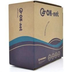 Кабель сетевой OK-Net FTP-cat.5E-SL внешний 100м (КППЭ-ВП (100) 24AWG / 100)
