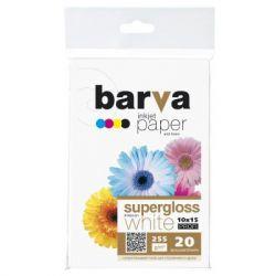 Бумага BARVA 10x15, 255 g/m2, PROFI, 20арк, supergloss (R255-221)