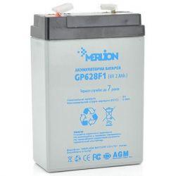 Батарея для ИБП 6В 2.8Ач Merlion AGM GP628F1, 6V 2.8Ah, 67х35х100 мм