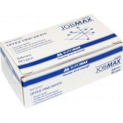 Кнопки BUROMAX office pins white, 100шт (BM.5252)