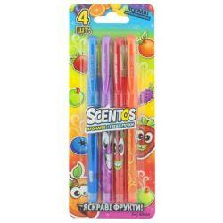 Набор для творчества Scentos Ароматные гелевые ручки ЯРКИЕ ФРУКТЫ 4 цв (40454)