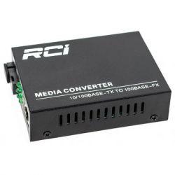 Медиаконвертер RCI 100M, 20km, SC, RJ45, Tx 1550nm, standart size metal case (RCI902W-FE-20-R)