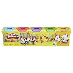 Набор для творчества Hasbro Play-Doh 5 шт Золотой цвет (E8142_E8144)