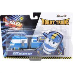 Игровой набор Silverlit Robot Trains Паровозик с двумя вагонами Кей (80176)