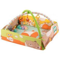 Детский коврик Baby Team с дугами и бортиками (8566)