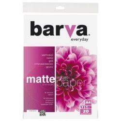 Фотобумага Barva, матовая, A4, 125 г/м2, 20 л (IP-AE125-316)
