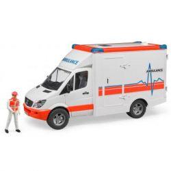 Спецтехника Bruder МВ Sprinter скорая помощь + фигурка водителя, М1:16 (02536)