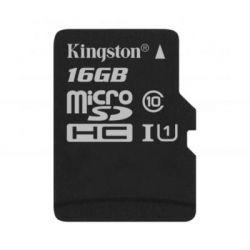 Карта памяти microSDHC, 16Gb, Class10 UHS-1 А1, Kingston Canvas Select Plus R-100MB/s, без адаптера (SDCS2/16GBSP)