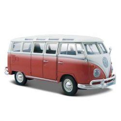 "Машина Maisto Volkswagen Van ""Samba"" красно-кремовый (1:25) (31956 red cream)"