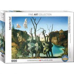 Пазл EuroGraphics Лебеди, отражающиеся в слонах. Сальвадор Дали. 1000 элементо (6000-0846)