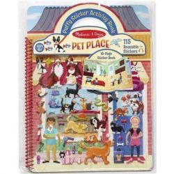 Набор для творчества Melissa&Doug Объемные многоразовые наклейки Дом для животных (MD19429) - Картинка 1