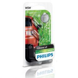 Автолампа Philips W5W LongLife EcoVision, 2шт/бл. (12961LLECOB2) - Картинка 3
