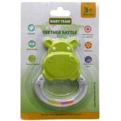 Погремушка Baby Team Погремушка-прорезыватель Бегемот (8447_Бегемотик_зеленый) - Картинка 2