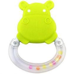 Погремушка Baby Team Погремушка-прорезыватель Бегемот (8447_Бегемотик_зеленый)
