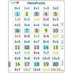Пазл Larsen рамка-вкладыш Мемо Сложение чисел 0-20 серия МАКСИ (GP3)