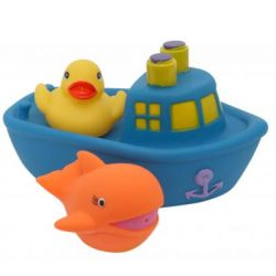 Игрушка для ванной Baby Team Корабль друзей синий (9000_синий)