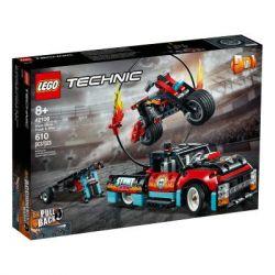 Конструктор LEGO Technic Шоу трюков на грузовиках и мотоциклах 610 деталей (42106) - Картинка 1