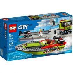 Конструктор LEGO City Great Vehicles Транспортировщик скоростных катеров 238 (60254) - Картинка 1