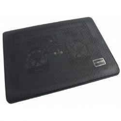 "Подставка для ноутбука до 15.6"" Esperanza Notebook Cooling Pad EA144 Tiv, пластик, 1хUSB, подсветка, 2 вентилятора, 350х250х20 мм, 700 г (EA144)"