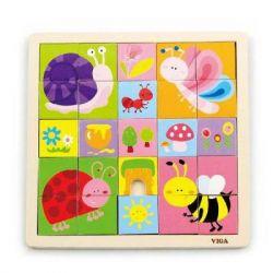 Пазл Viga Toys Насекомые (50150)