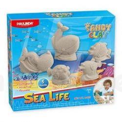 Набор для творчества Paulinda Песок для творчества Морская жизнь 300г, 5 ед (PL-140016)