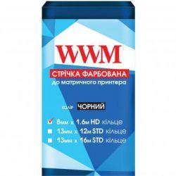 Лента к принтерам 8мм х 1.6м HD к. Black WWM (R8.1.6H)