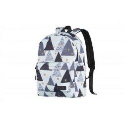 Рюкзак для ноутбука 2E TeensPack Triangles, White (2E-BPT6114WT)