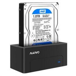 """Док-станция Maiwo K308P для HDD 2,5""""/3,5"""" SATA через USB3.0 безвинтов. крепление пластик черн."""