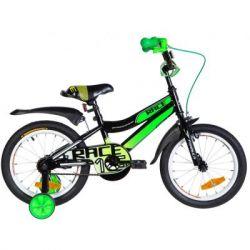 """Детский велосипед Formula 16"""" RACE рама-9"""" St 2020 черно-зеленый с белым (OPS-FRK-16-104) - Картинка 1"""