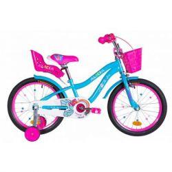 """Детский велосипед Formula 18"""" ALICIA рама-9,5"""" St 2020 голубой (OPS-FRK-18-062)"""