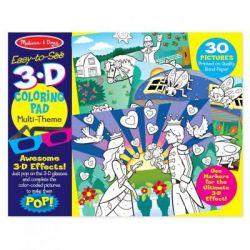 Набор для творчества Melissa&Doug 3D раскраска по точкам для девочек (MD9963)